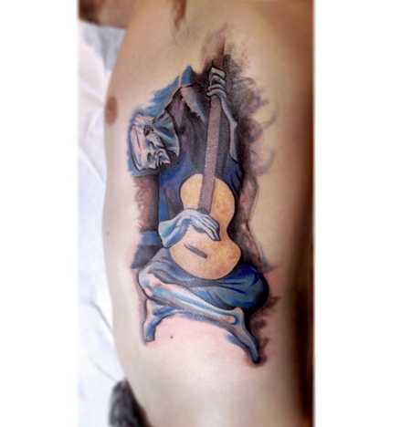 Tattoos - The Old Guitarist - 108961