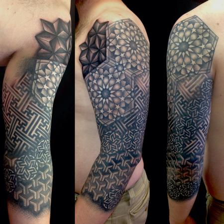 Geometric pattern sleeve  Tattoo Design