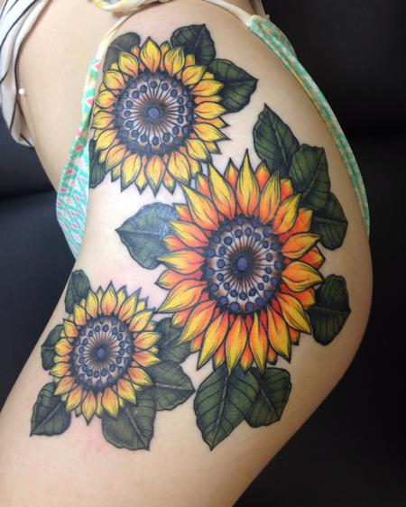 Tattoos - Sunflower mandalas  - 122208