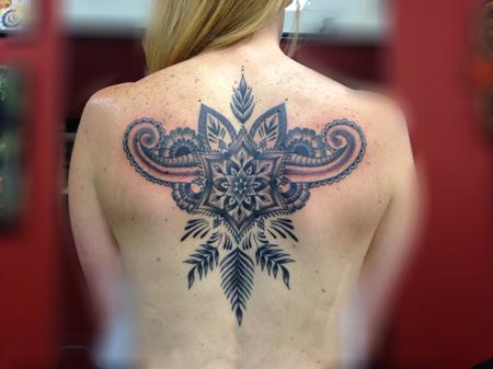 Tattoos - Henna style back piece Work in progress  - 122201