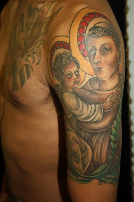 Rebecca Smith (Beccadoodletattoos)  - St. Anthony Tattoo
