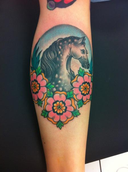 Traditional Horse Tattoo Tattoo Design Thumbnail