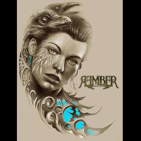 Raven Lady By Rember Dark Age Tattoo Studio Original Art