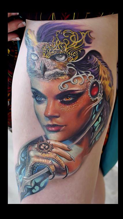 Native american owl tattoo - photo#18