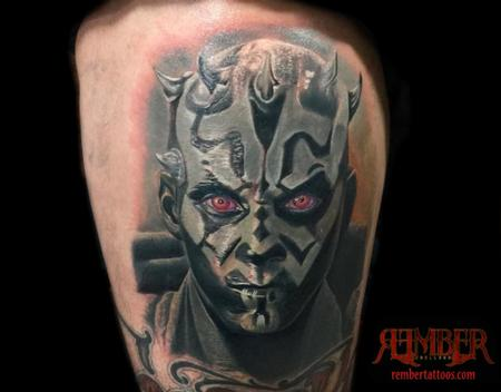 Tattoos - Color realism Darth Maul - 109827