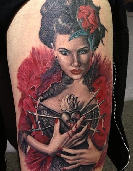 Deadly Geisha  Tattoo Design Thumbnail