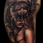 Tattoos - Masked woman portrait - 104374