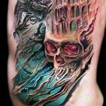 Tattoos - Gothic Skull and Castle - 103992