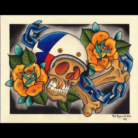 Tattoos - Skull Biker - 116910