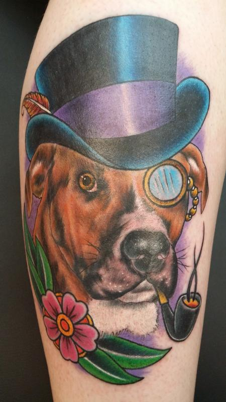 Dog With Top Hat Design Thumbnail