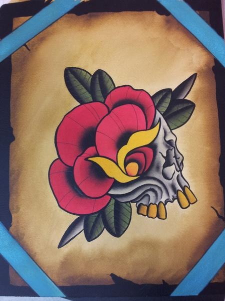 Tattoos - Rose Skull  - 104911