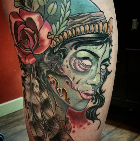 Zombie Gypsy Tattoo Thumbnail