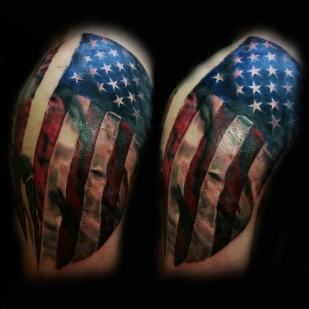American Flag Tattoo Design by Robert Luckey