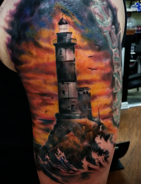 LIghthouse Tattoo Design by Robert Luckey