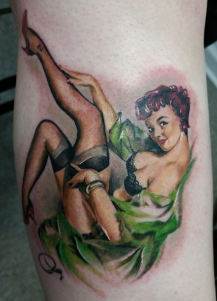Pinup Tattoo Design by Robert Luckey