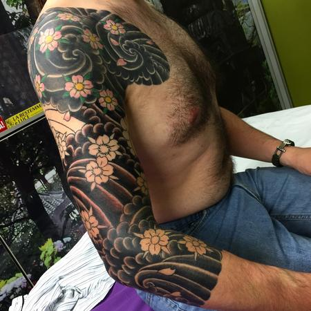 Tattoos - Sakura - tebori ( hand made japanese traditional tattoo) - 109496