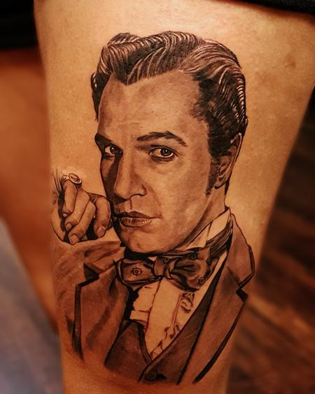 Young Vincent Price Tattoo Design by Ryan Townsend