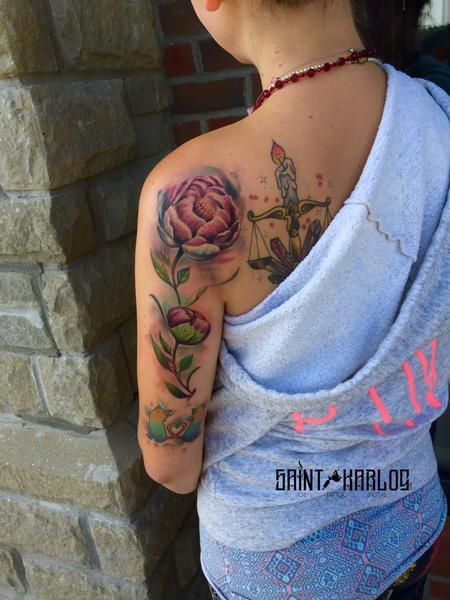 Tattoos - watercolor flower - 129954