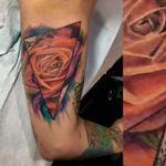 watercolor rose Tattoo Design Thumbnail