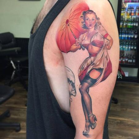 Color Pinup Tattoo Design Thumbnail