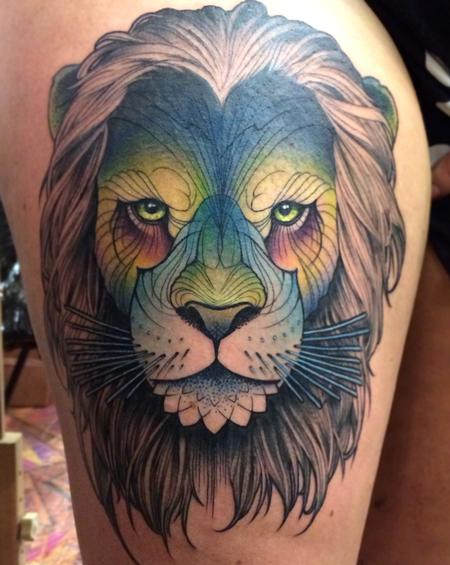 Tattoos - Lion head - 114449