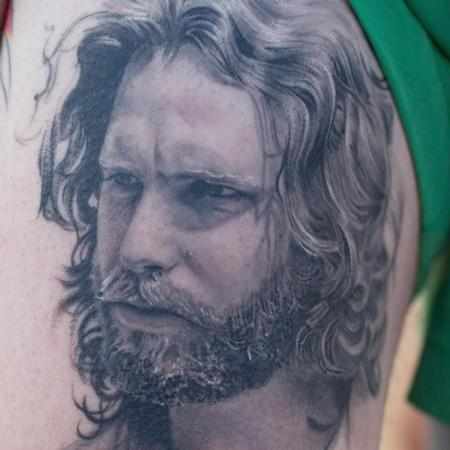 Tattoos - Jim Morrison Portrait Details - 113691