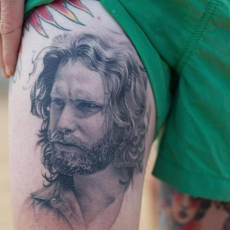 Tattoos - Jim Morrison Portrait Tattoo - 113690