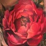 Flower on Shoulder Tattoo Design Thumbnail