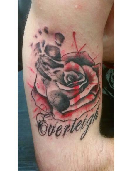 Tattoos - trash polka rose - 114158