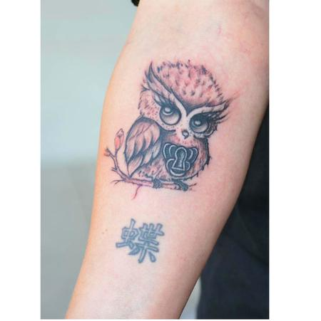 Tattoos - little owl  - 114166