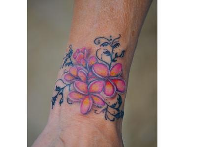 Tattoos - color flowers - 114187