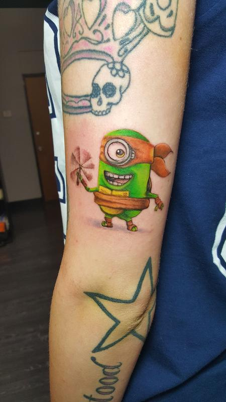Tattoos - michaelangelo minion - 114194