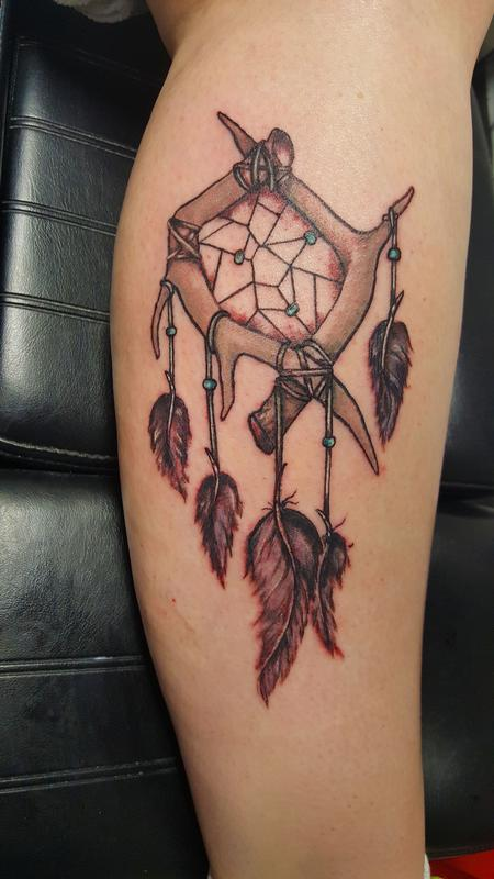 Tattoos - antler dreamcatcher - 114195