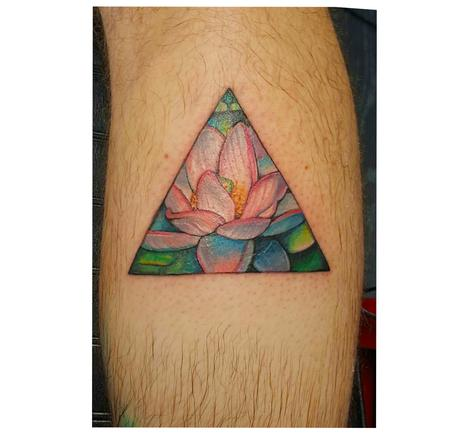 Tattoos - lotus triangle - 114165