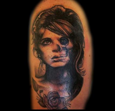 Tattoos - Skull and portrait - 108992