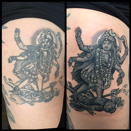 Tattoos - Reworked Kali Leg Tattoo - 119659