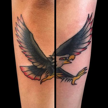 American Traditional Style Bald Eagle tattoo Design Thumbnail