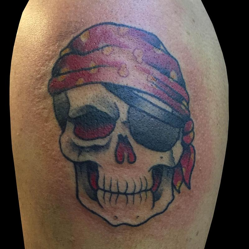 Pictures Of New School Pirate Skull Tattoo Rock Cafe