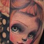 Doll Face  Tattoo Design Thumbnail