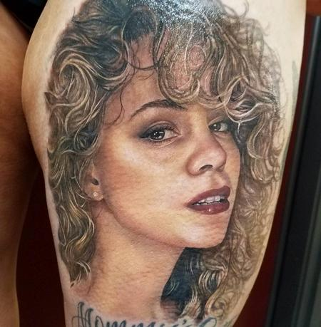 Sarah Miller - mariah carey portrait tattoo