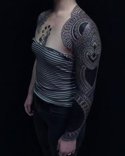 Tattoos - Ornamental Blackwork Sleeve - 125462