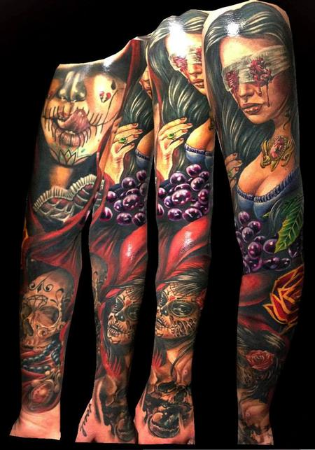 Tattoos - Day of the Dead Sleeve - 98931