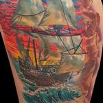 pirate ship Tattoo Design Thumbnail