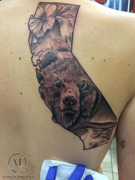 Tattoos - California bear - 111234