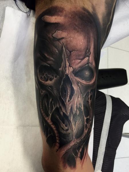 Tattoos - Mechanical skull  - 120631