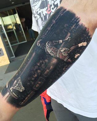 Steve Butcher - Michael Jordan Basketball tattoo