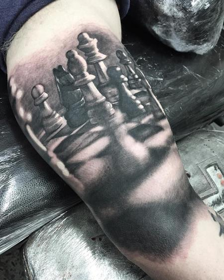 Steve Butcher - Chess Tattoo