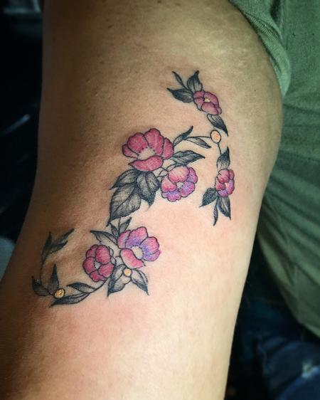 Tattoos - Scorpio_sign_made_of_flowers - 132395