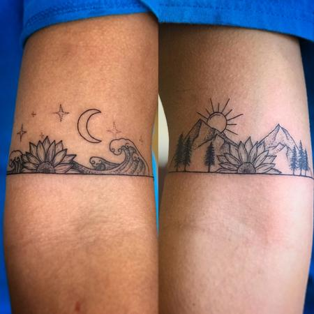 Tattoos - Delicate_blackwork_nature_scene_matching - 131010