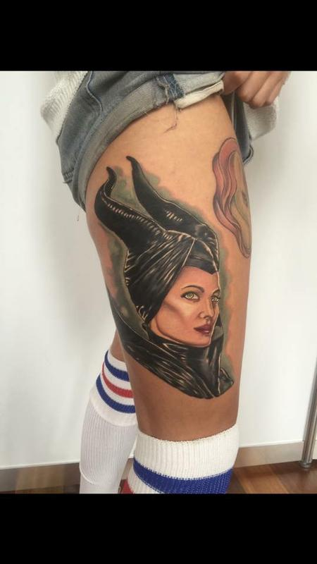 Magnificent  Maleficent  Tattoo Design Thumbnail
